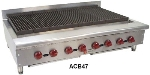 Wolf Range ACB36 1 36-1/8 in Achiever Gas Charbroiler, 6 Burners, Manual Controls, NG