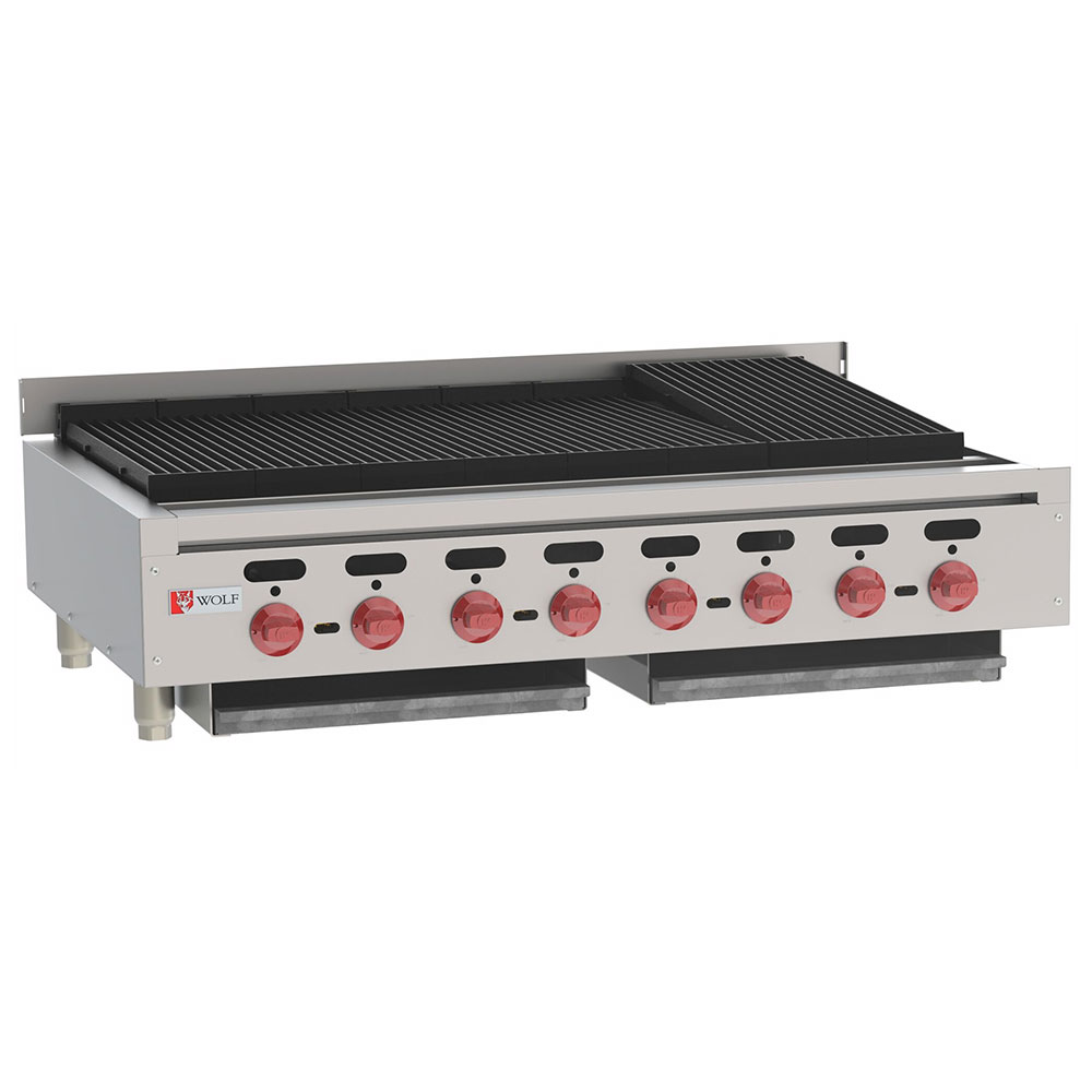 "Wolf ACB4 47"" Gas Charbroiler w/ (8) Burners & Cast Iron Grates, LP"