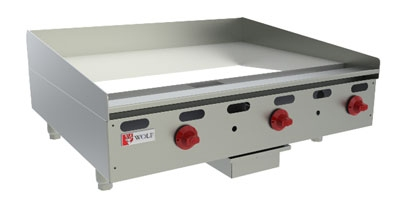 "Wolf AGM36 36"" Gas Griddle - Manual, 1"" Steel Plate, LP"