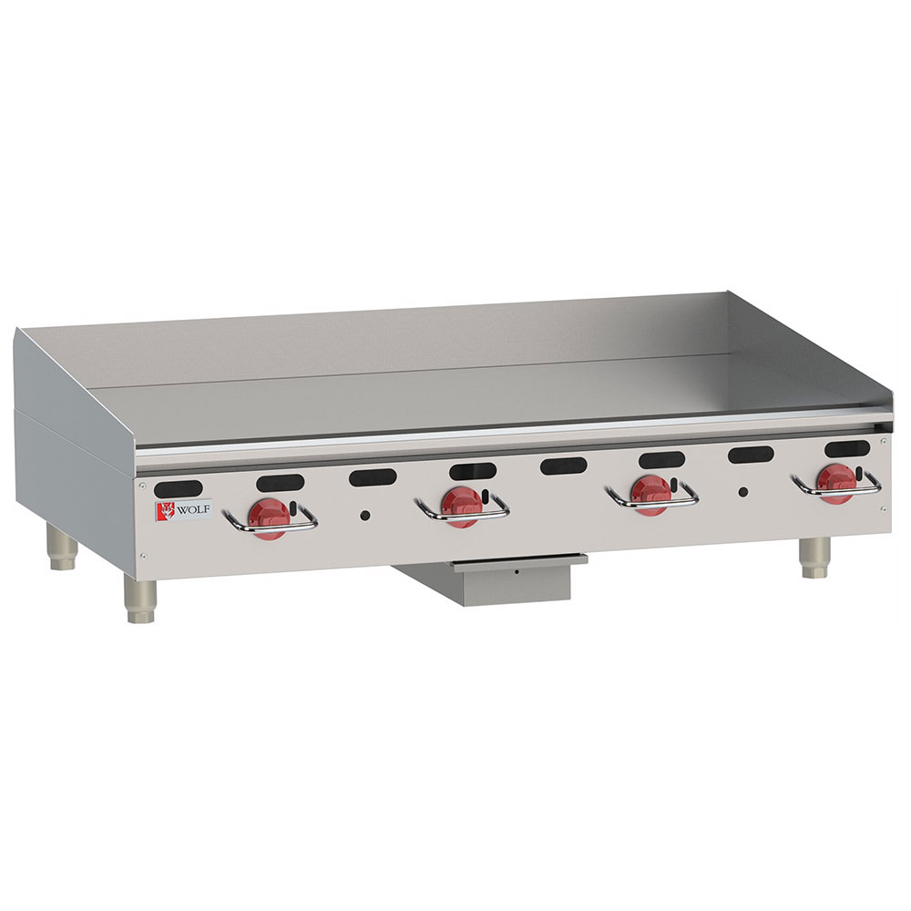 "Wolf AGM48 48"" Gas Griddle - Manual, 1"" Steel Plate, LP"