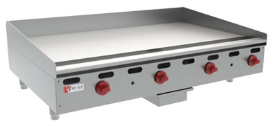 "Wolf AGM60 60"" Gas Griddle - Manual, 1"" Steel Plate, NG"