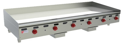 "Wolf AGM72 72"" Gas Griddle - Manual, 1"" Steel Plate, LP"