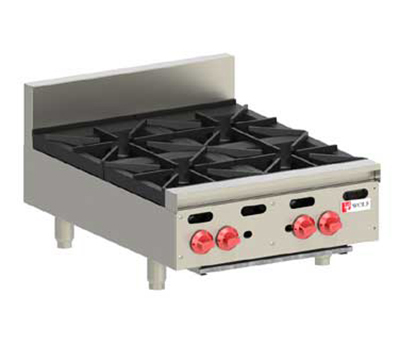 Wolf Range AHP424LP Achiever Hotplate, Countertop, 24-in, 4-Burners, LP