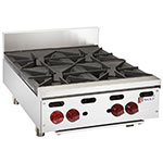 "Wolf AHP424 24"" Hotplate w/ (4) Open Burners & Cast Iron Grates, LP"