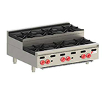 "Wolf AHP636U 36"" Hotplate w/ 3-Open Burners & 3-Step Up Burners, LP"