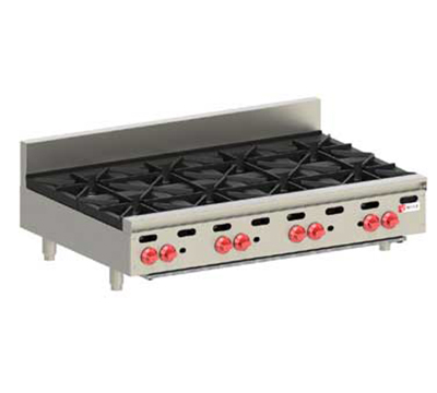 "Wolf AHP848 48"" Gas Hotplate w/ (8) Burners & Manual Controls, LP"