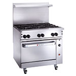 "Wolf C36C-6B 36"" 6-Burner Gas Range w/ Convection Oven, NG"