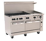 "Wolf C60SS-6B24G 60"" 6-Burner Gas Range with Griddle, NG"