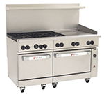 "Wolf Range C60-SS-6B-24GT 60"" 6-Burner Gas Range with Griddle, NG"