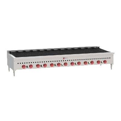 """Wolf SCB72 72"""" Gas Charbroiler w/ Cast Iron Grates - Manual, LP"""