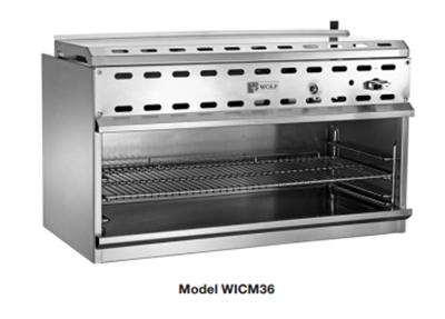 "Wolf WICM48 48"" Gas Cheese Melter w/ Infrared Burner, Stainless, LP"
