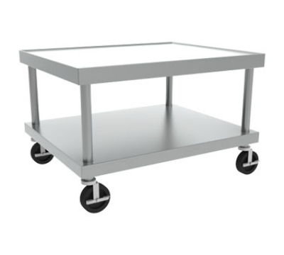 Wolf Range STAND/C-24 26-in Wide Equipment Stand w/ Marine Edge & Undershelf, Stainless