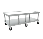 "Wolf STAND/C-60 61"" Wide Equipment Stand w/ Marine Edge & Undershelf, Stainless"