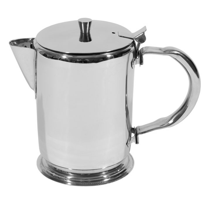 Town 24132 32 oz Stainless Teapot, Short Spout, Built-In Tea Leaf Strainer