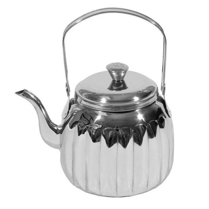 Town 24148 48-oz Stainless Teapot w/ Gooseneck Spout, Pivot Handle With Knob