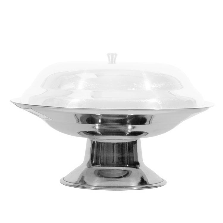 Town 25285 Stainless Compote Dish, Footed Base, Without Cover, 8-1/2 in