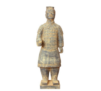 Town Foodservice Equipment 28253 Xian Foot Soldier Statue Terra-Cotta 4-3/4 in Restaurant Supply