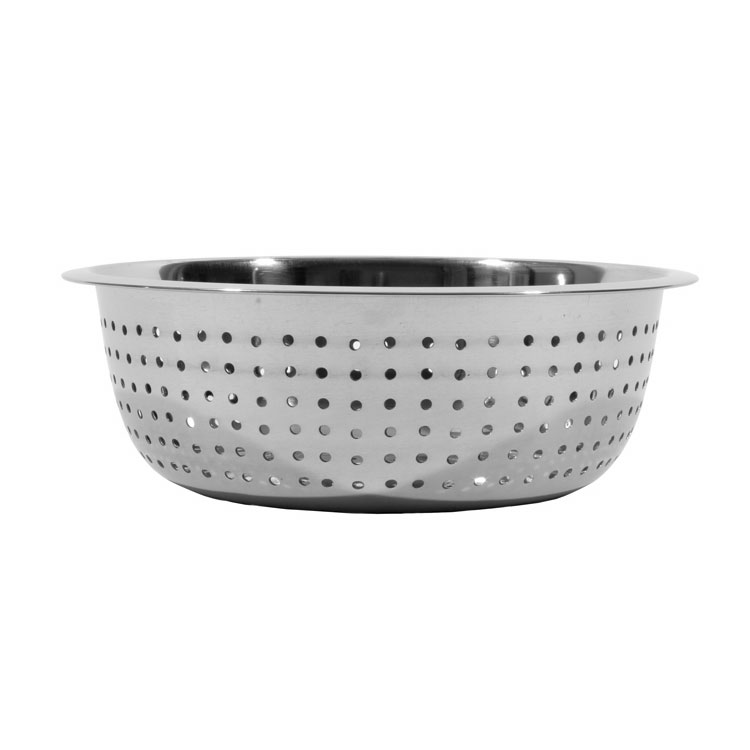 "Town 31811 11""  Stainless Chinese Style Colander w/ Large Perforations"