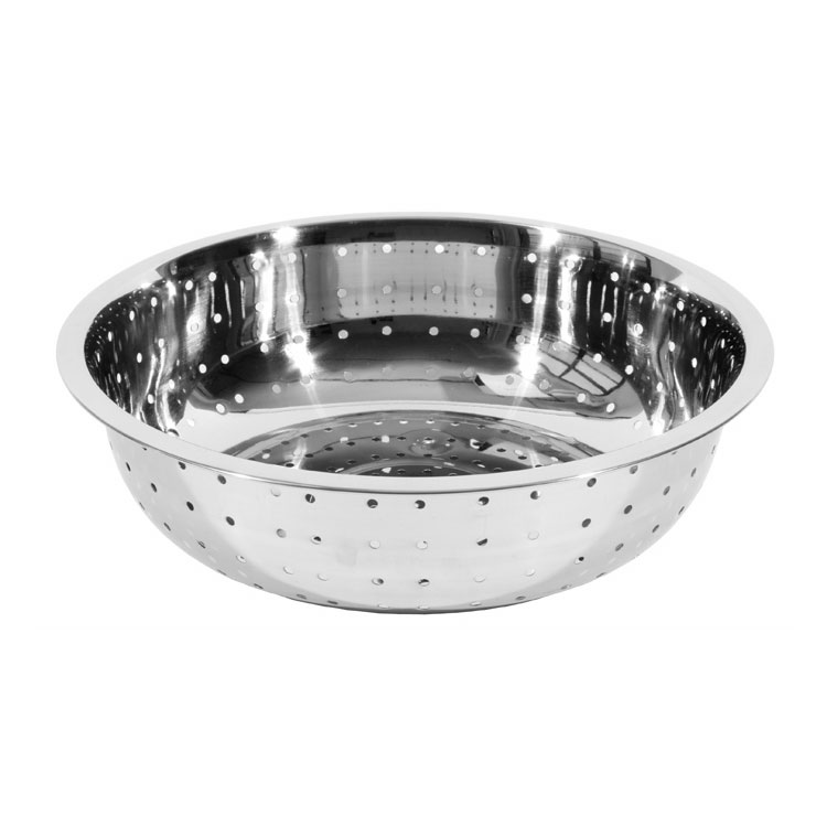 "Town 31815 15""  Stainless Chinese Style Colander w/ Large Perforations"