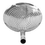 "Town 32912 Stainless Mandarin Strainer, Perforated, 5"" Handle, One-Piece, 12"""