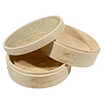 Town 34212 Bamboo Steamer Set, Includes 2 Steamers, 1 Cover, 12 in