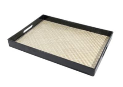 Town Food Service 34246 Room Service Tray, With Bamboo Liner