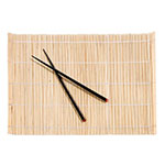 Town 34253 (4) Placemat & Chopstick - 12x18, Natural Bamboo