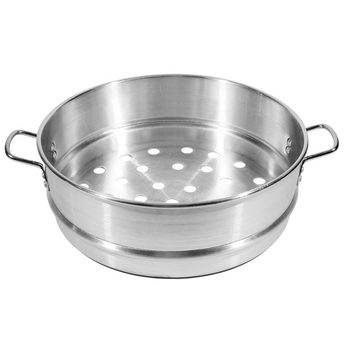 "Town 34412 12"" Chinese Steamer Basket, 7/8"" Perforations, Aluminum"