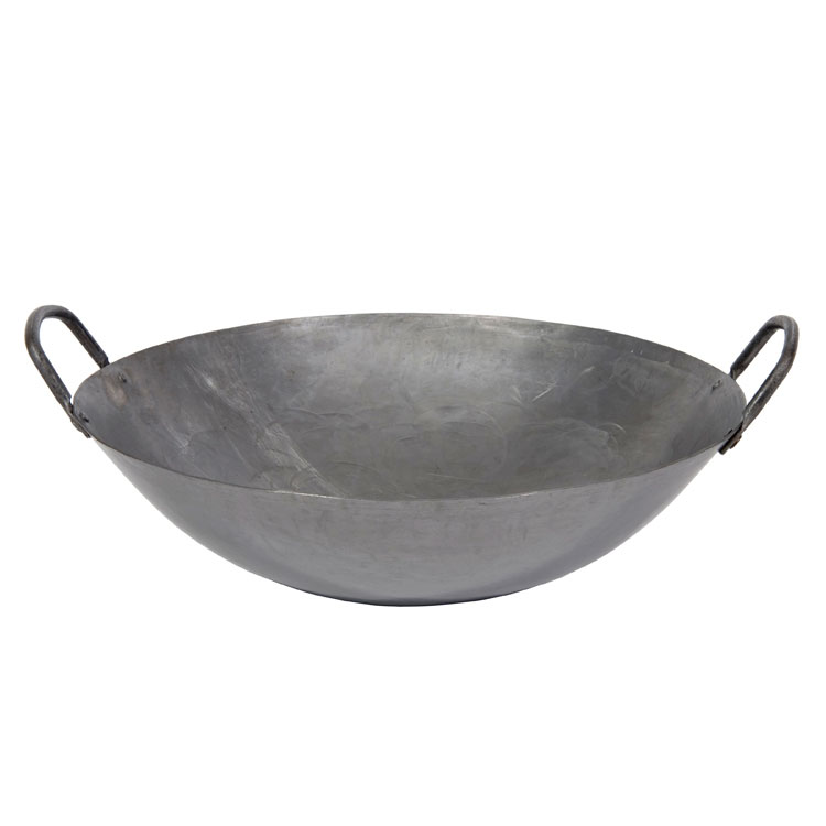 "Town 34716 16"" Steel Cantonese Wok, Hand Hammered, Fits 13"" Chamber"