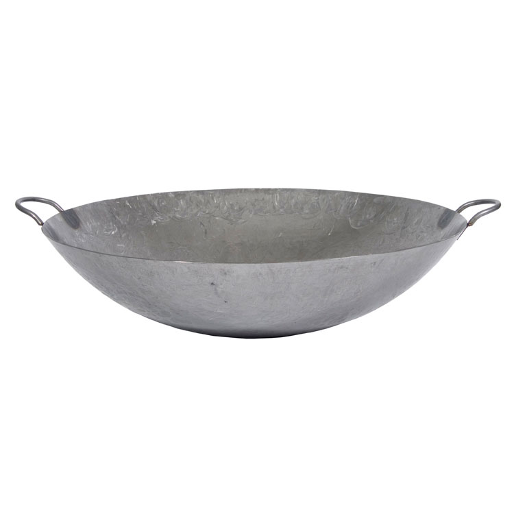 """Town 34722 22"""" Steel Cantonese Wok, Hand Hammered, Fits 18"""" Chamber"""