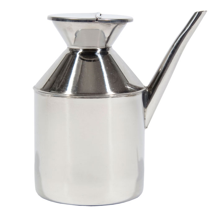 Town 37600 13 oz Soy Sauce Dispenser, Without Handle, Hinged Cover, Stainless