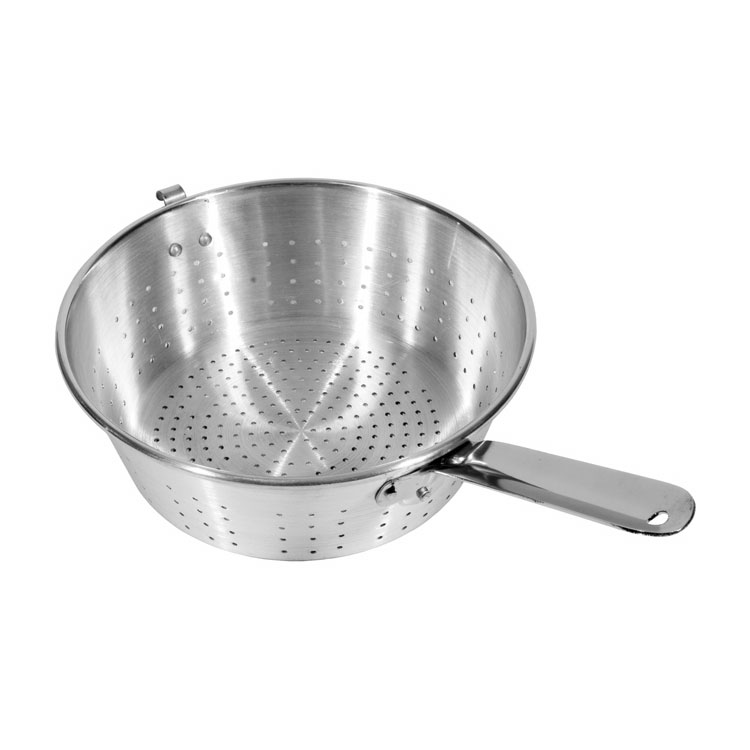 "Town 37910H 10"" Strainer, With Handle And Hook, Aluminum"