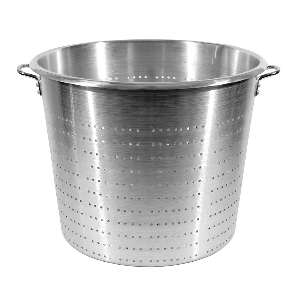 Town 38015 60 qt Vegetable Colander, Large Riveted Handles, Aluminum