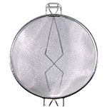 """Town 42410-S 10-3/8"""" Diameter Double Mesh Strainer, Wood Handle, Stainless"""