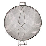 "Town 42412-S 12"" Diameter Double Mesh Strainer, Wood Handle, Stainless"