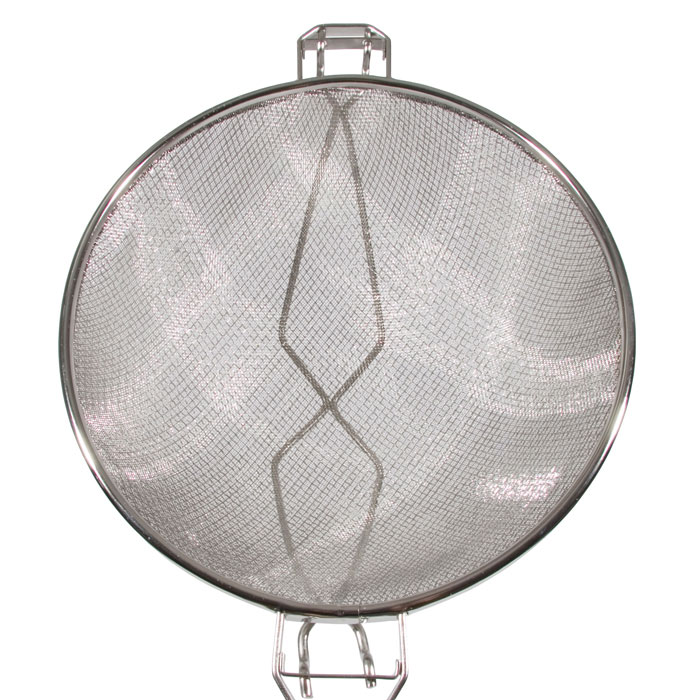 """Town 42412-S 12"""" Diameter Double Mesh Strainer, Wood Handle, Stainless"""