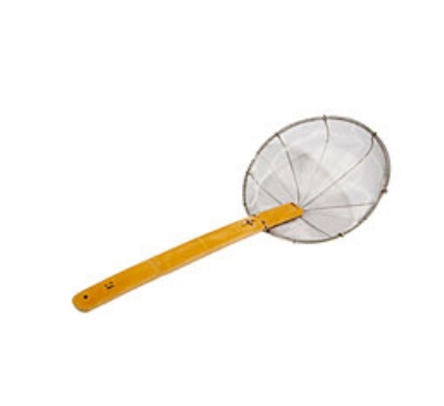 Town Food 42506SF 6 in Diameter Shark Fin Mesh Skimmer Stainless Restaurant Supply