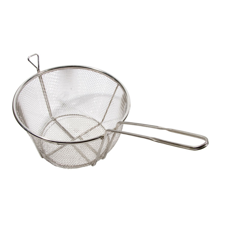 "Town 42939 8-1/2"" Diameter Culinary Basket, 8""Handle, Stainless"