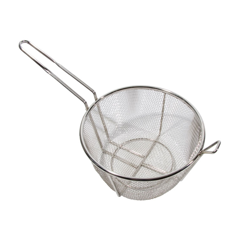 "Town 42940 9-1/2"" Diameter Culinary Basket, 8""Handle, Stainless"