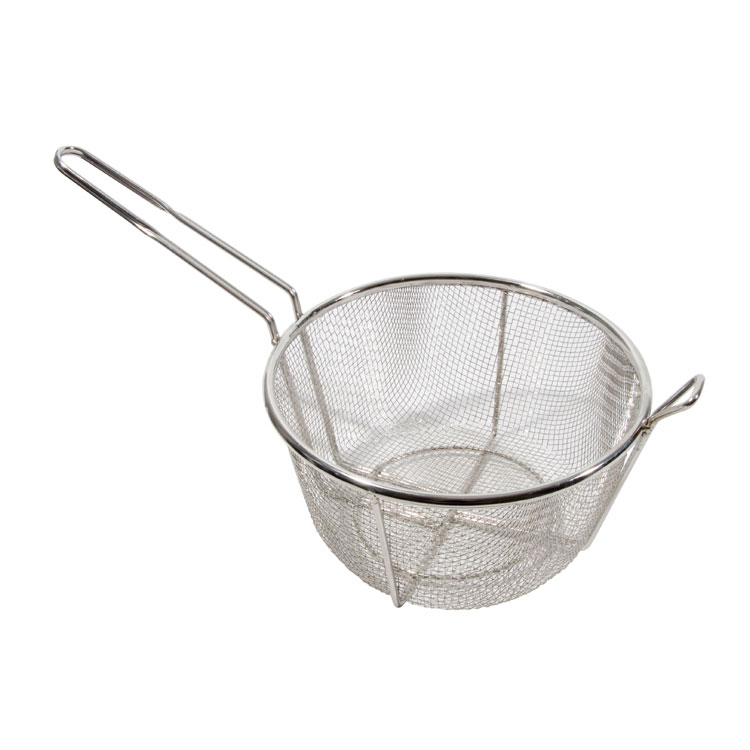 "Town 42942 11-1/2"" Diameter Culinary Basket, 6""Handle, Stainless"