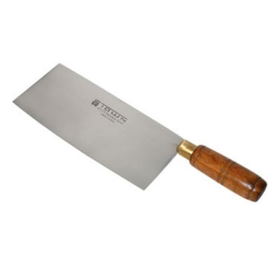 "Town 47374 Chinese Cleaver Slicer, 8 X 3-3/4"" Tampered Stainless Blade"