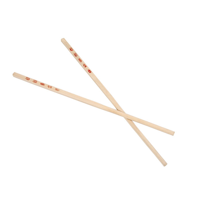 "Town 51310 10-1/2""Wooden Bamboo Chopsticks, With Red Imprint"