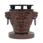 "Town 51336 3-3/4 x 4-3/4""Hibachi Stove Set, Dragon-Style, Cast Iron Removable Grill"