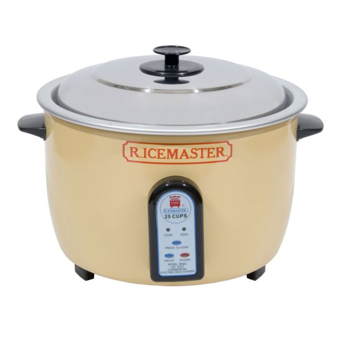 Town 56822 25-Cup Rice Cooker w/ Auto Cook & Hold, 120 V