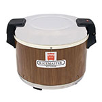 Town 56916W 18 qt Electric Rice Warmer, Wood Grain Exterior, 120 V