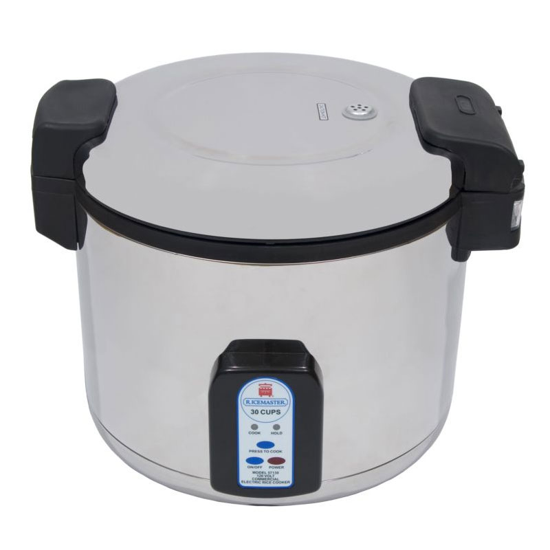 Town 57131 30 Cup Electric Rice Cooker, One Touch, Stainless Exterior, 230 V