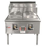 "Town CF-2 NG Cheung Fun Noodle Range, Gas, 2 Two Ring Burner, Manual Fill Faucet, 43"" NG"