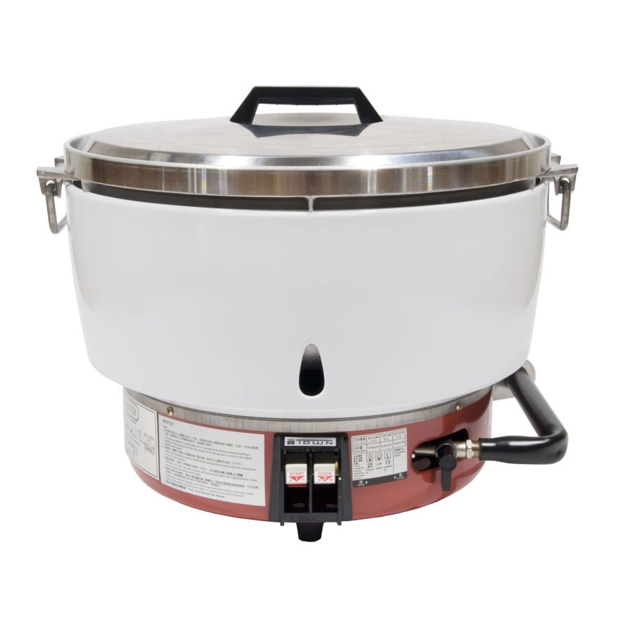 Town RM-50P-R 55-Cup Rice Cooker w/  Aluminum Exterior, LP