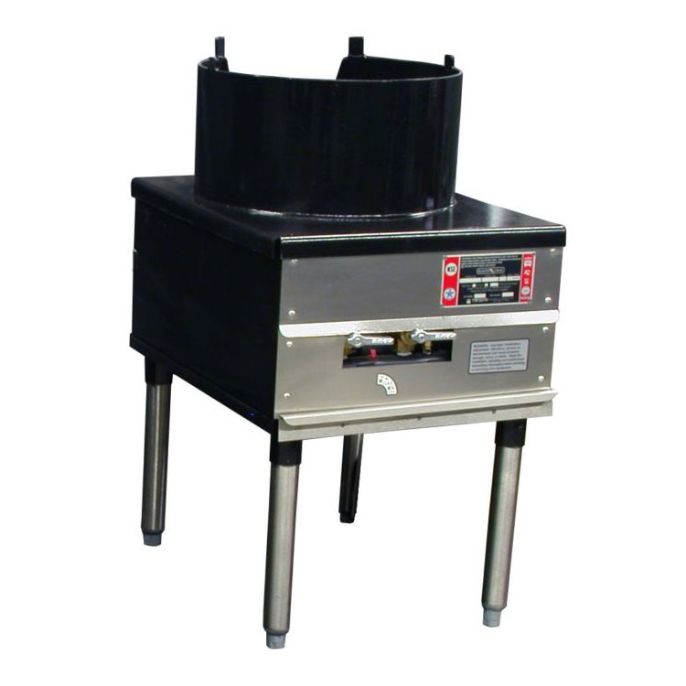 "Town SR-24-C-SS-N 18"" Cantonese Wok Range, 3/16"" Steel Top, Rear Gas Connection NG"