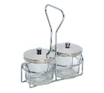 Town Food Service 19825 Stationary Chrome Plated Condiment Rack, Holds Two Jars, 7-1/2 x 6-1/2 in  19825